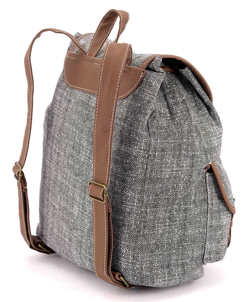 Рюкзак женский тканевый 5102 серый 28*28*10см