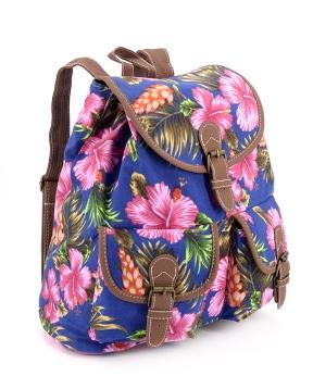 Купить Рюкзак  женский тканевый 5106 цветы 28*28*10см