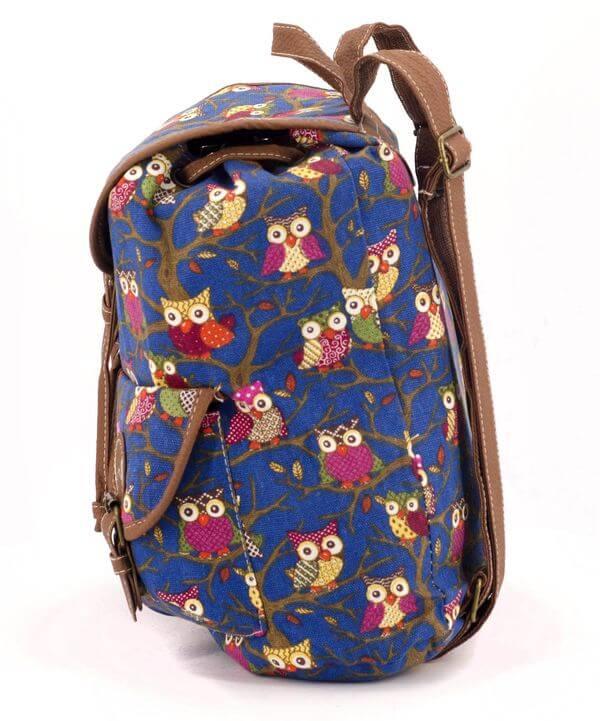 Рюкзак  женский тканевый 5107 сова 28*28*10см