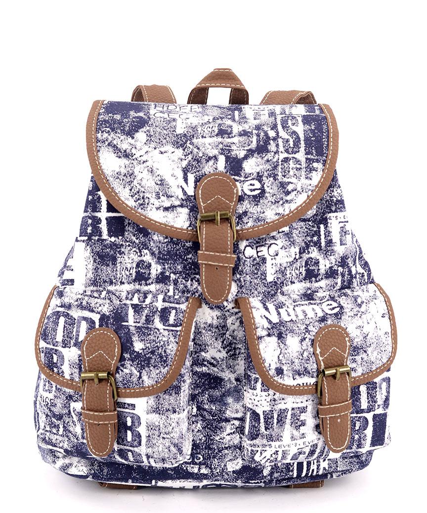 Рюкзак женский тканевый 5109 джинс 28*28*10см