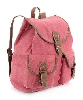 Купить Рюкзак женский тканевый, вишневый 5110