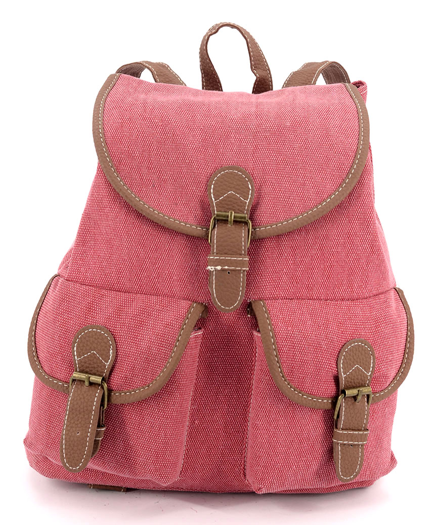 Рюкзак женский тканевый 5110 вишневый 28*28*10см
