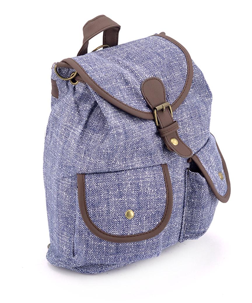 Рюкзак женский тканевый 5111 синий 26*19*12см