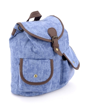 Купить Рюкзак женский тканевый,  светло-синий 5114