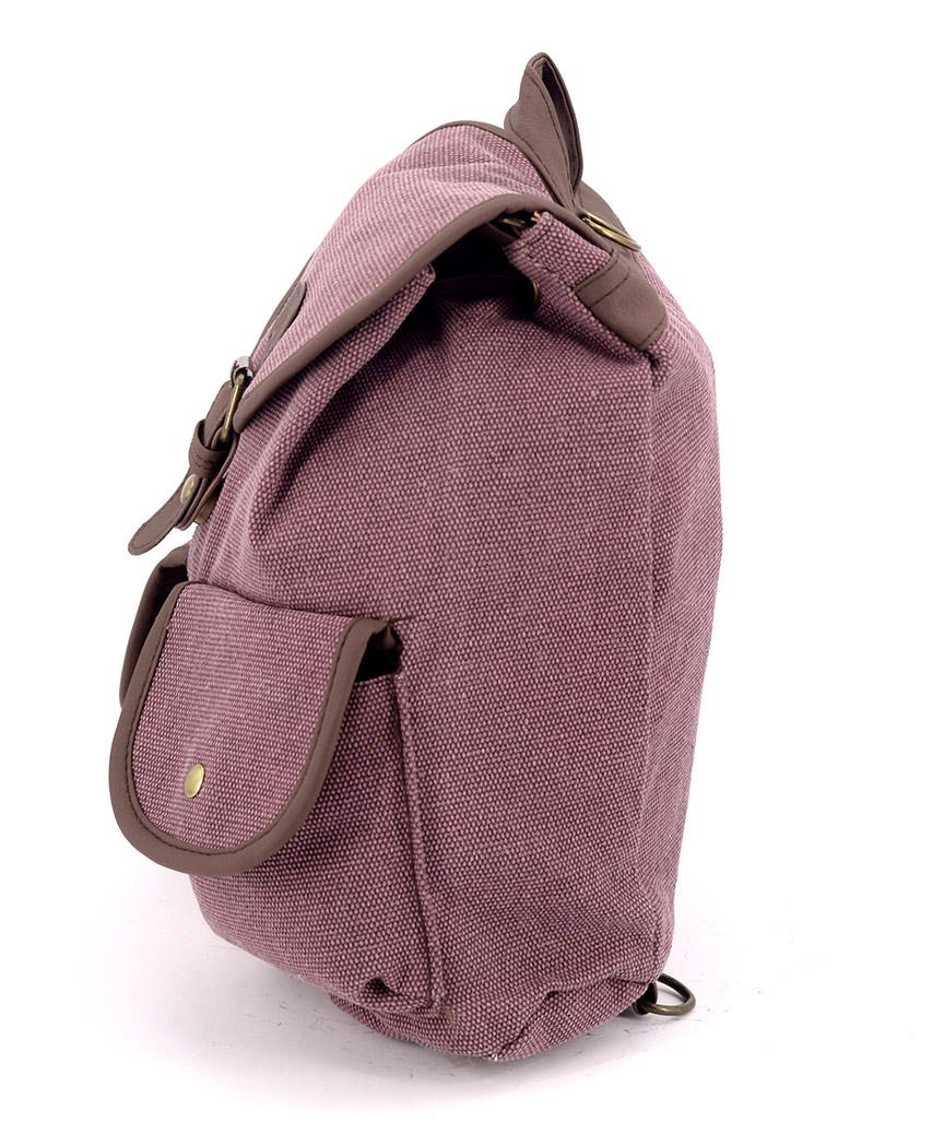 Рюкзак женский тканевый 5117 бордовый 26*19*12см