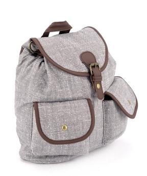 Купить Рюкзак женский тканевый, светло-серый 5118