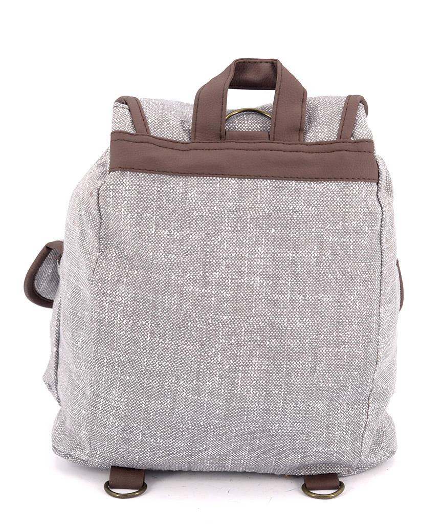 Рюкзак женский тканевый 5118 светло-серый 26*19*12см
