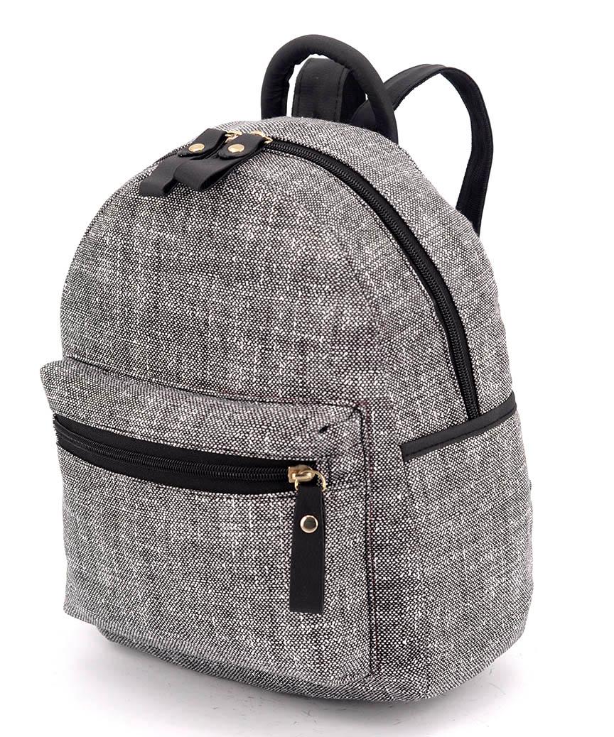 Рюкзак женский тканевый 5125 тёмно-серый 29*24*13см