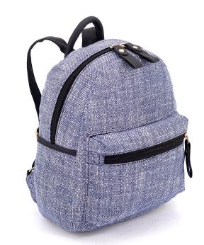 Купить Рюкзак  женский тканевый 5127 светло-синий 29*24*13см