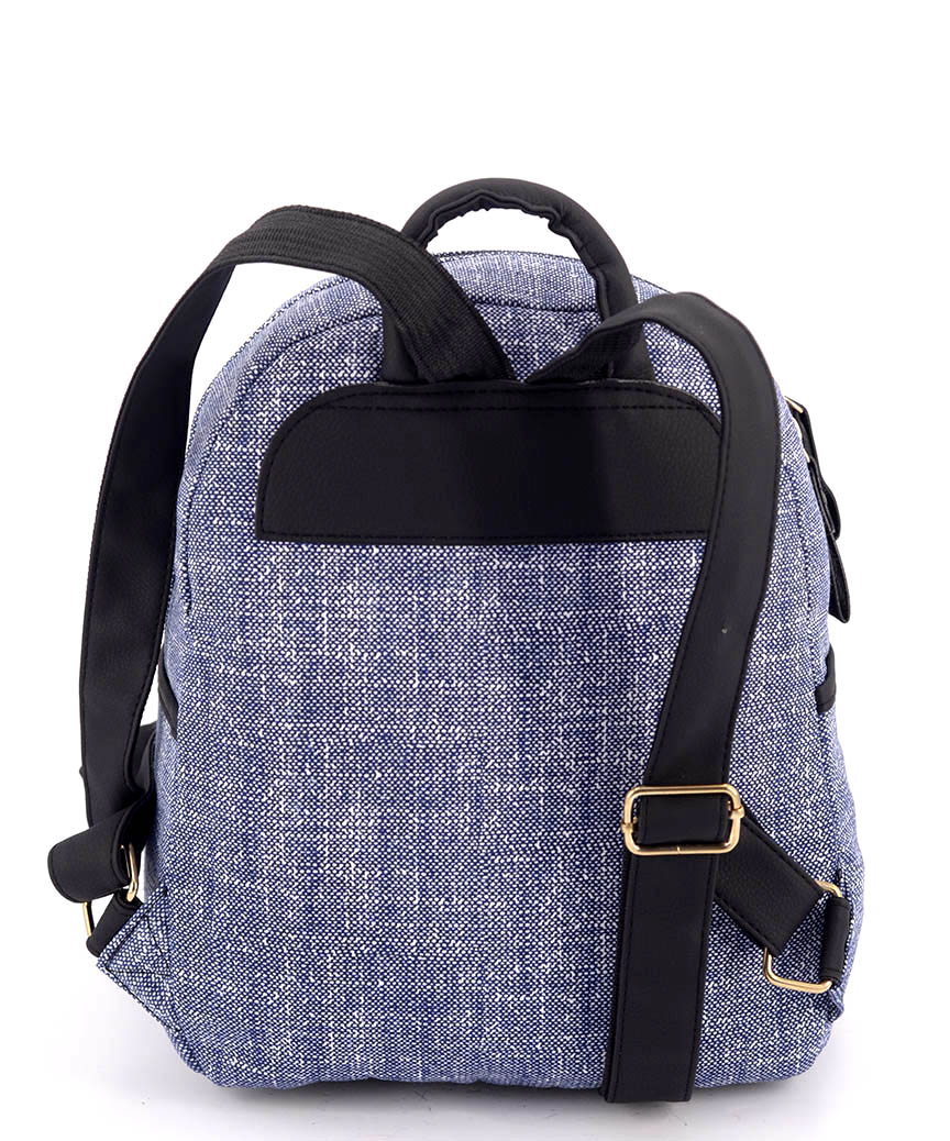 Рюкзак  женский тканевый 5127 светло-синий 29*24*13см