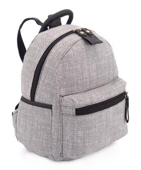 Купить Рюкзак женский тканевый 5128 светло-серый 29*24*13см