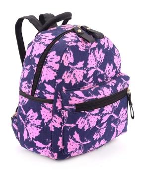 Купить Рюкзак женский тканевый 5133 сине-розовый 29*24*13см