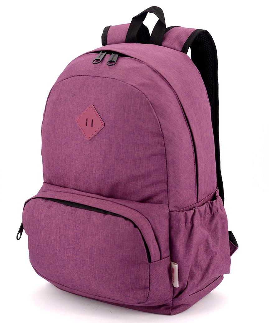 Рюкзак молодёжный 5161 бордовый 44*28*13см