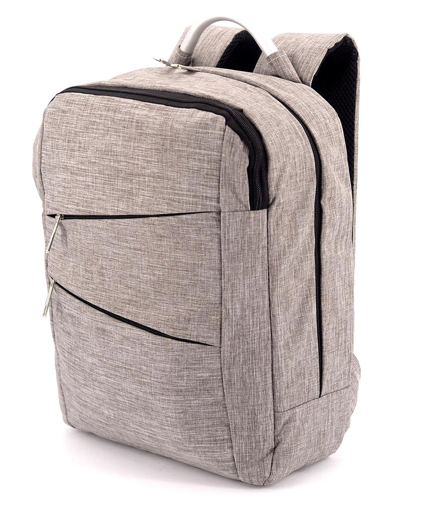 Рюкзак с металической ручкой 5209 серый 38*29*12см