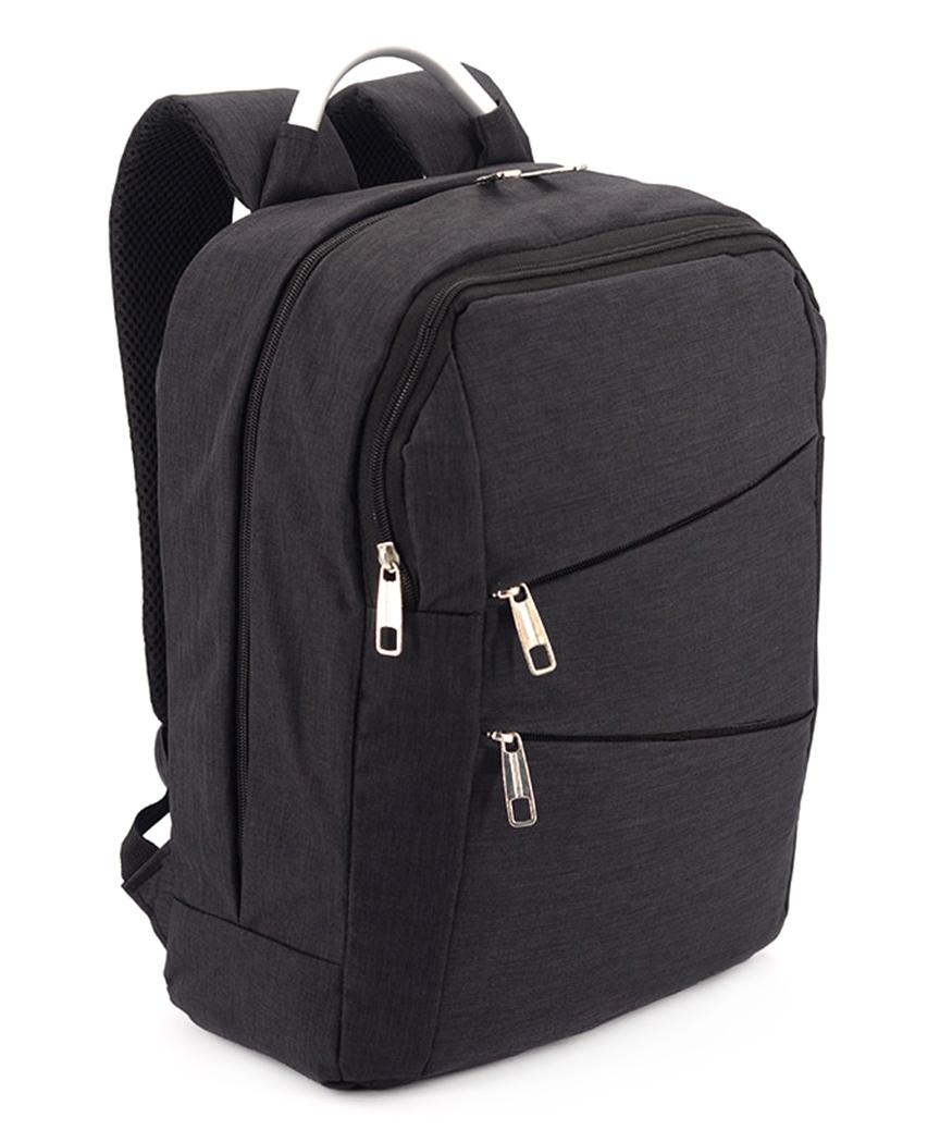 Рюкзак с металической ручкой 5210 черный 38*29*12см