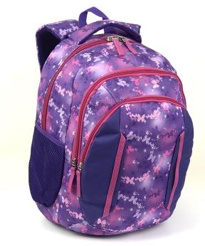 Купить Рюкзак ортопедический 5215 фиолетовый бабочка 40*28*20см