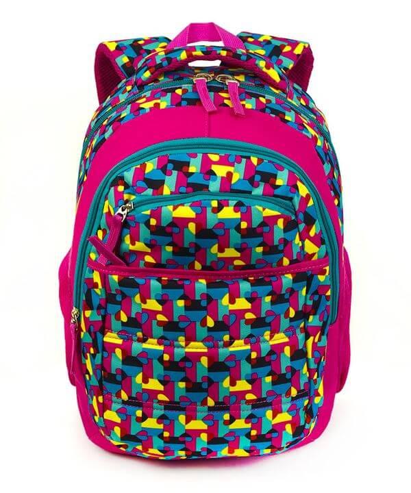 Рюкзак ортопедический 5216 цветная абстракция 40*28*20см