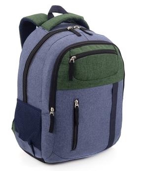 Купить Рюкзак ортопедический 5225 с зеленым карманом 40*28*20см