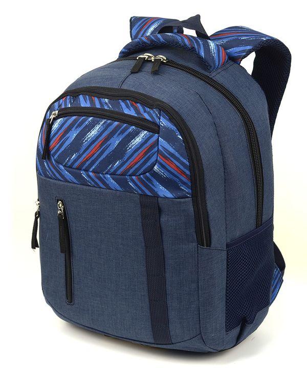 Рюкзак ортопедический 5226 синий с принтом 40*28*20см