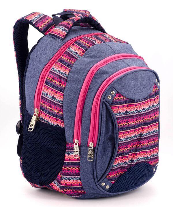 Рюкзак ортопедический 5232 розовые узоры 40*28*20см