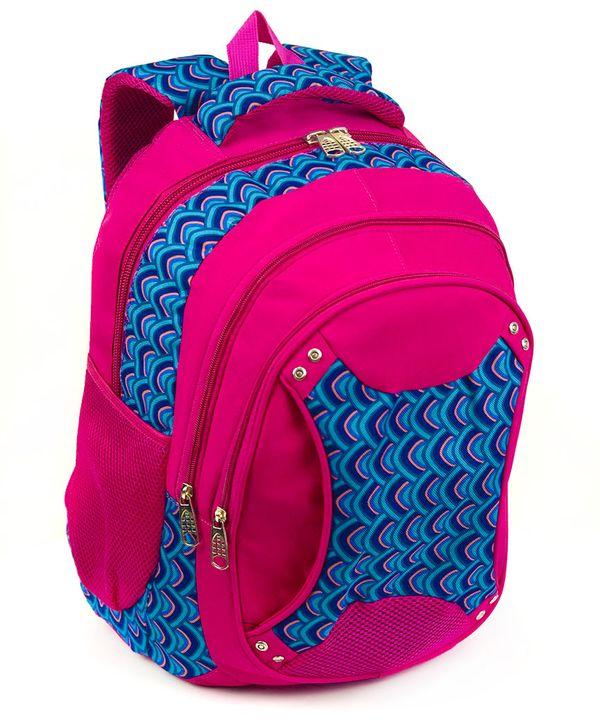 Рюкзак ортопедический 5234 розовый с заклепками 40*28*20см