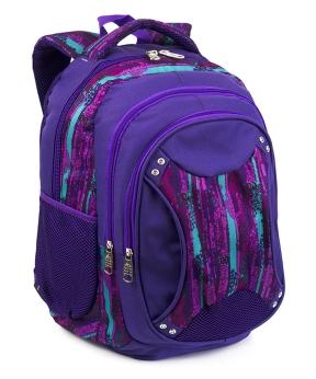 Купить Рюкзак ортопедический 5235 фиолетовый с принтом 40*28*20см