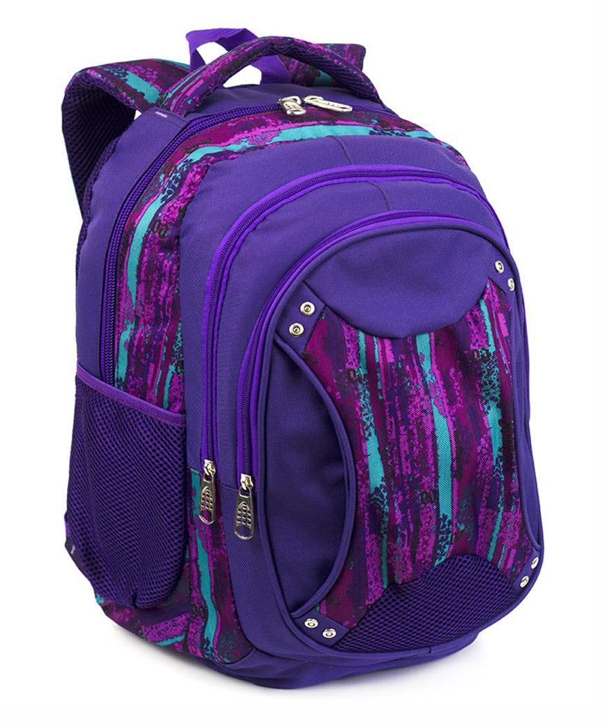 Рюкзак ортопедический 5235 фиолетовый с принтом 40*28*20см