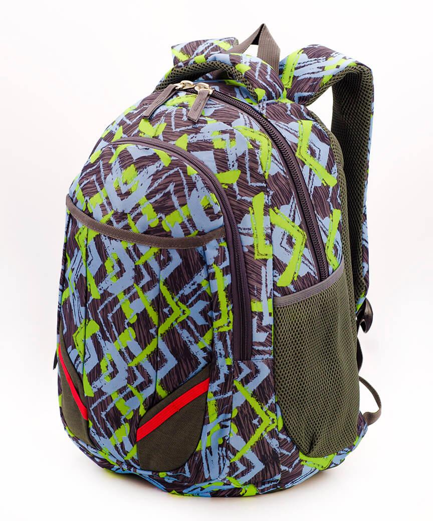 Рюкзак ортопедический 5241 зелёный Графика 40*28*20см