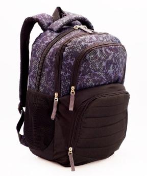 Купить Рюкзак ортопедический 5245 коричнево-фиолетовый чешуя 40*28*18см