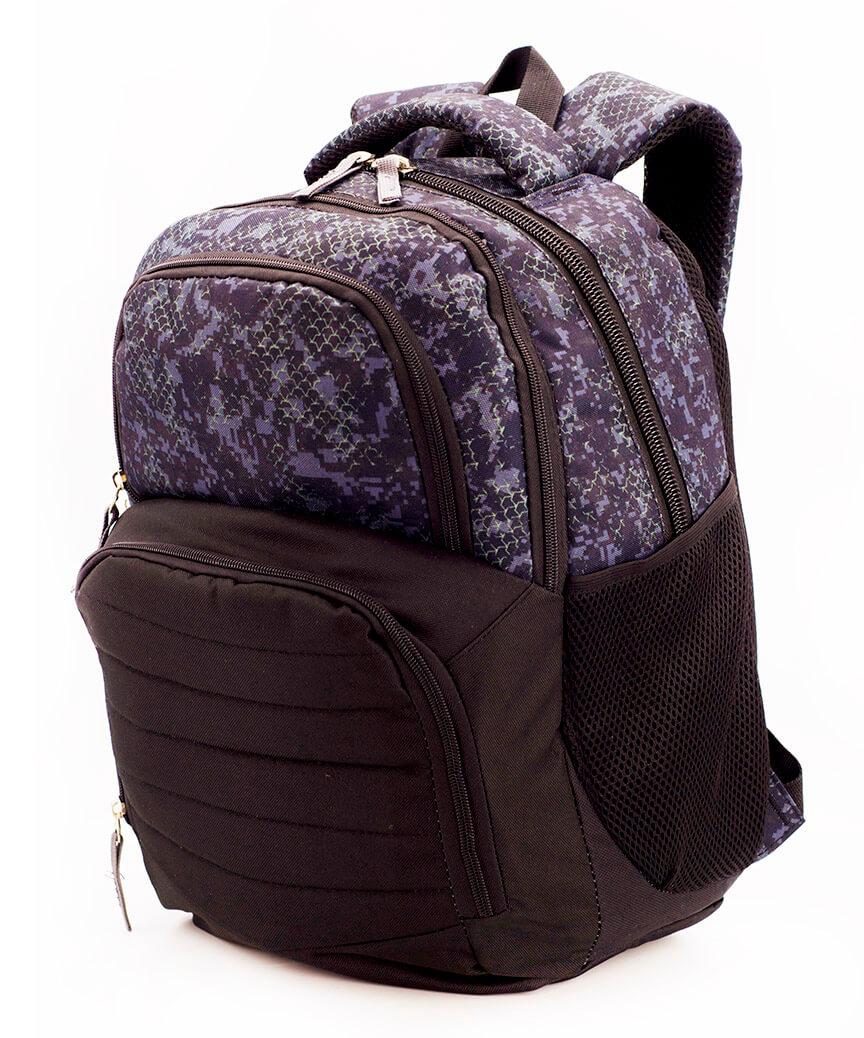 Рюкзак ортопедический 5245 коричнево-фиолетовый чешуя 40*28*18см
