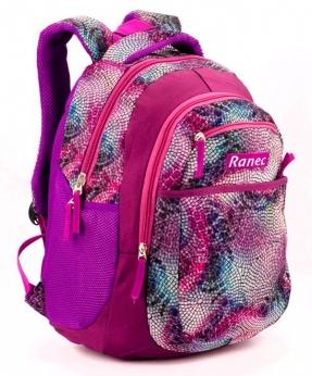 Купить Рюкзак ортопедический 5254 фиолетовая мозаика 40*28*20см