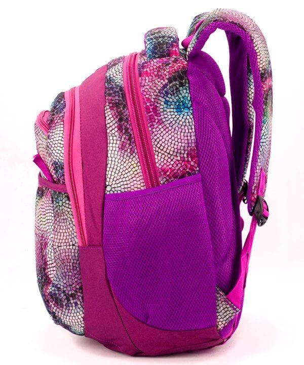 Рюкзак ортопедический 5254 фиолетовая мозаика 40*28*20см