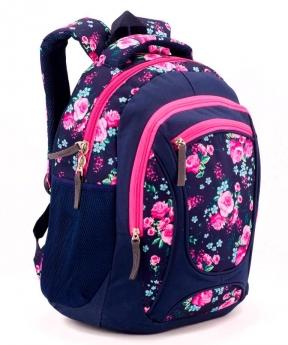 Купить Рюкзак ортопедический 5260 розовые цветы-2 40*28*20см