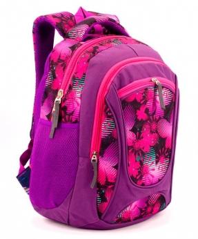 Купить Рюкзак ортопедический 5261 розовые бабочки 40*28*20см