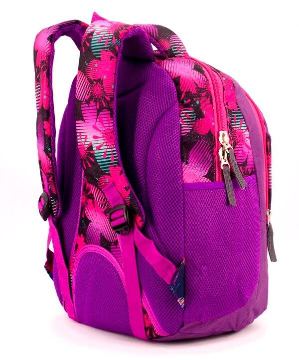 Рюкзак ортопедический 5261 розовые бабочки 40*28*20см