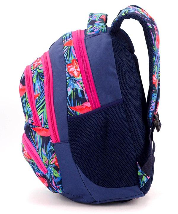 Рюкзак ортопед 5264 фламинго на синем 40*28*20см