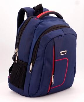 Купить Рюкзак синий 5276 красная ручка 39*27*14см