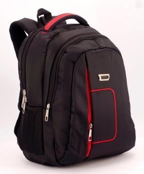 Купить Рюкзак чёрный  5277  красная ручка 39*27*14см