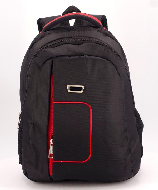 Рюкзак чёрный  5277  красная ручка 39*27*14см