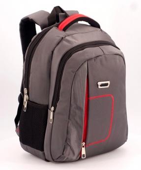 Купить Рюкзак серый, красная ручка 5278