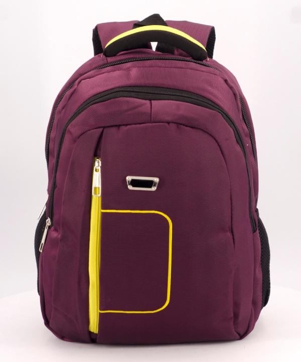 Рюкзак бордый 5280 жёлтая ручка 39*27*14см