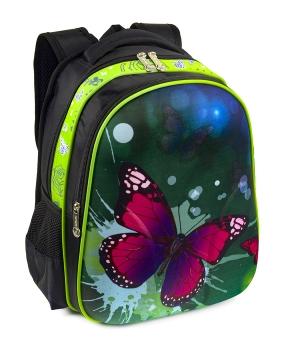 Купить Рюкзак детский с панцирем 5320 бабочка 39*29*12см