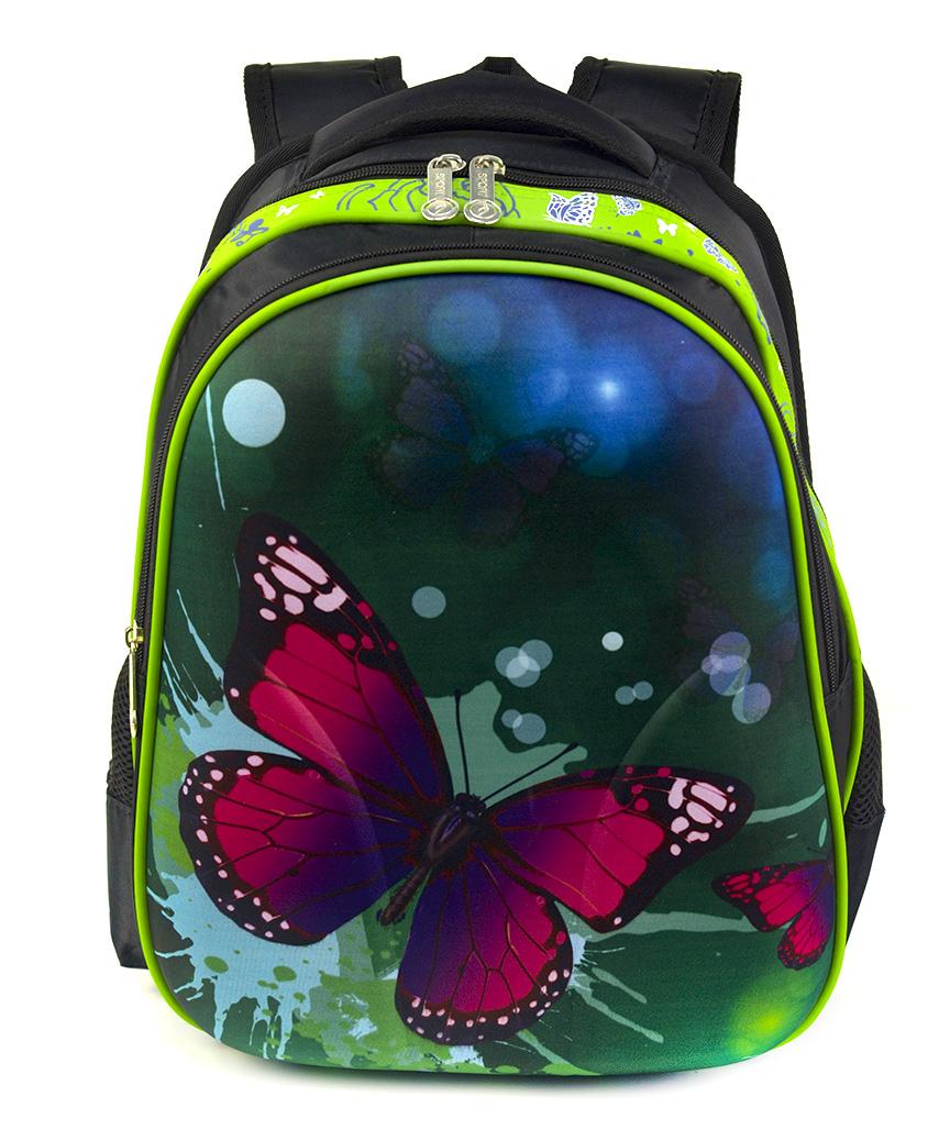 Рюкзак детский с панцирем 5320 бабочка 39*29*12см