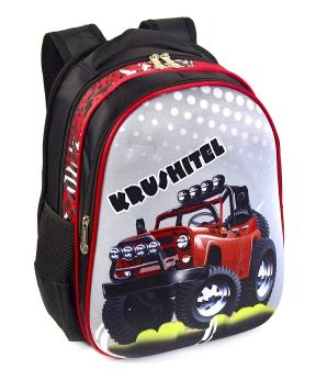 Купить Рюкзак детский с панцирем 5325 джип (KRUSHITEL) 39*29*12см