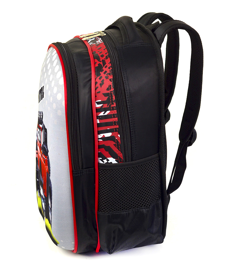Рюкзак детский с панцирем 5325 джип (KRUSHITEL) 39*29*12см