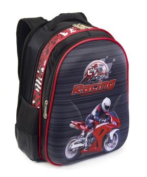 Купить Рюкзак детский с панцирем 5327 мотоцикл 39*29*12см