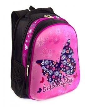 Купить Рюкзак детский с панцирем 5330 бабочка 39*29*12см