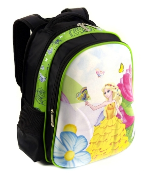 Купить Рюкзак детский с панцирем 5331 принцесса 39*29*12см