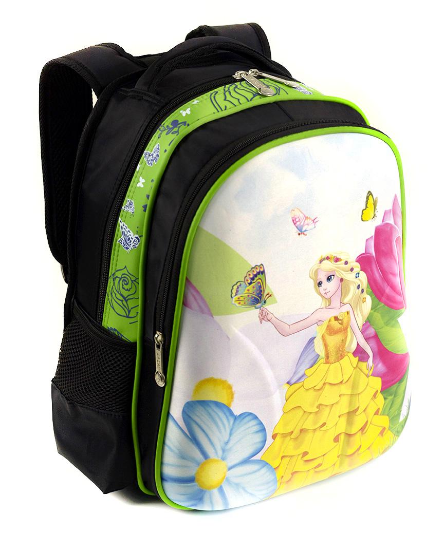 Рюкзак детский с панцирем 5331 принцесса 39*29*12см