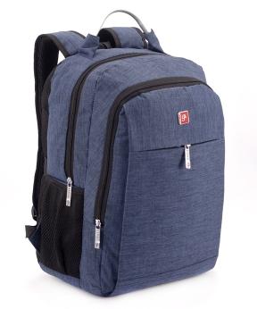 Купить Рюкзак подростковый, с метал. ручкой, синий  8901-1